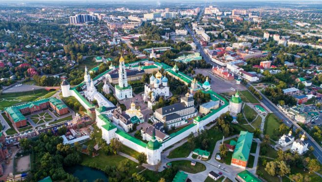 The town of Sergiev Posad is home to the spiritual centre of the Russian Orthodox Church - the Trinity Lavra of St Sergius