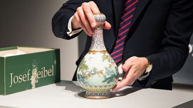 Chinese Vase Found In Shoebox Sells For 14m Bbc News