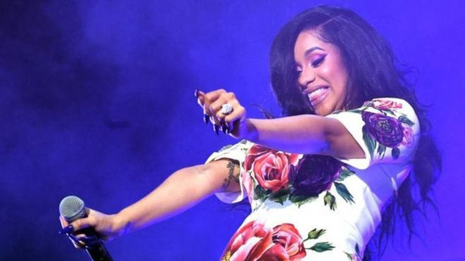 Cardi B don become first female rapper to get two Billboard