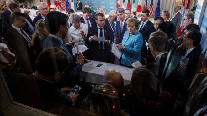 رهبران کشورهای صنعتی در اجلاس گروه هفت