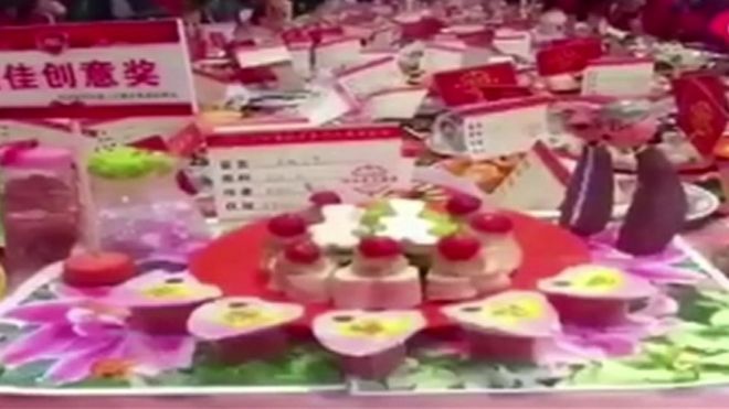 Delicacies from Wuhan banquet