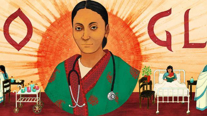 Google doodle of Rakhmabai Raut