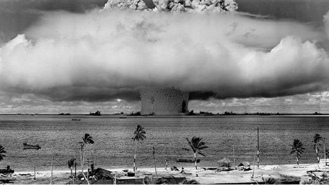 Detonación de bomba en 1946