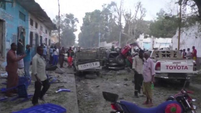 El día después de la explosión en Mogadiscio