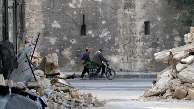 Damage in Aleppo, 15 Nov