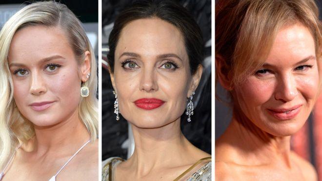 Brie Larsson, Angelina Jolie y Renée Zellweger