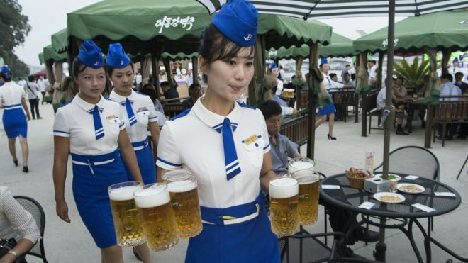 North Korea launches 'exclusive' new beer - BBC News