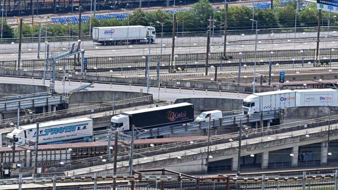 Lorries in Folkestone