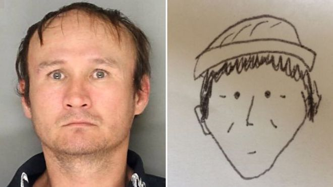 cartoonish police sketch snares suspect in pennsylvania theft bbc