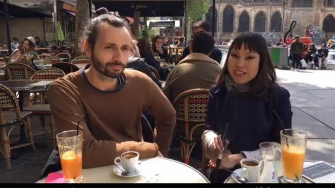 Emmanuel Pannier và Hạnh Ly của BBC Tiếng Việt tại Paris
