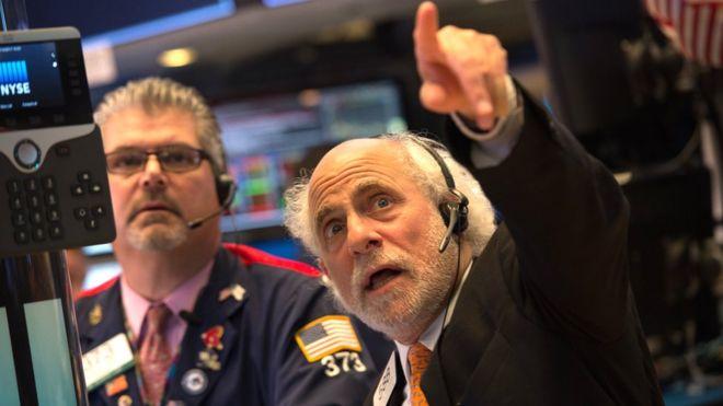 US stock exchange traders