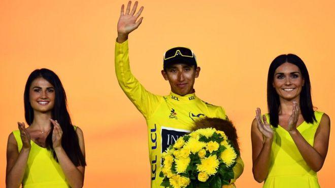 Egan Bernal es el ganador de la 106 edición del Tour de Francia.