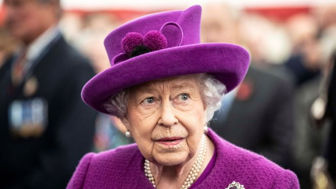 The Queen (file pic) in November 2019