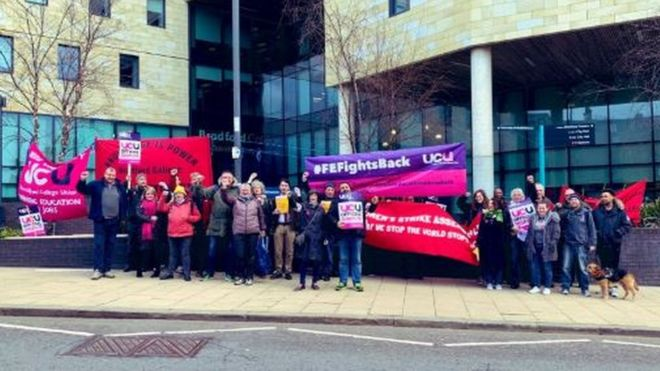 Three-day strike over job losses and pay at Bradford College