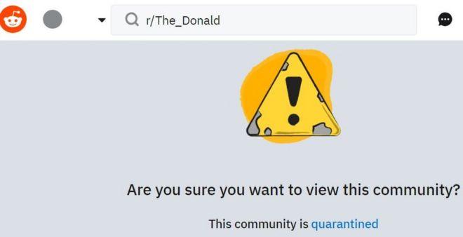 Reddit places pro-Donald-Trump forum in quarantine - BBC News