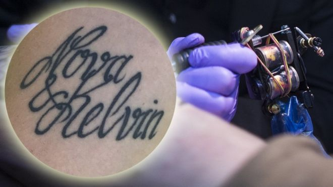 Mum Changes Son S Name After Mistake In New Tattoo Bbc News