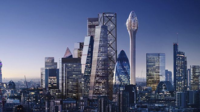 Tulip' tower planned for London's skyline - BBC News