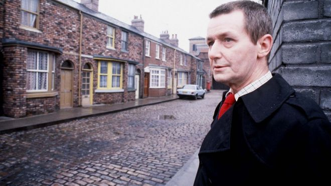 Tony Warren on Coronation Street in 1985