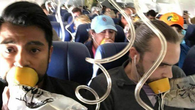 Passageiros de voo da Southwest Airlines que sofreu acidente