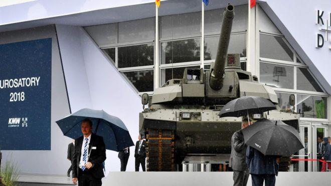 Танк EMBT на выставке Eurosatory во Франции