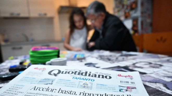 "Italy""s local newspaper ""Nuovo Quotidiano di Puglia"""