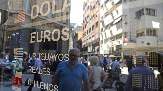 Argentina raises interest rates to 40% bbc news