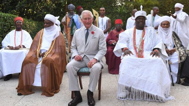 Prince of Wales meet wit ogbonge Nigeria traditional leaders - BBC