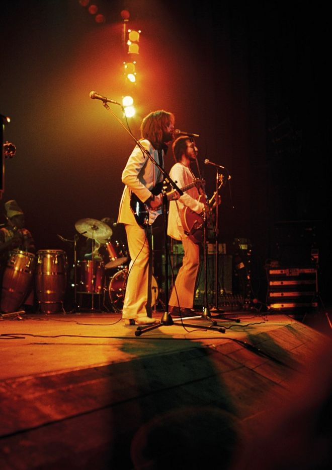 Eric Clapton and Pete Townshend on stage