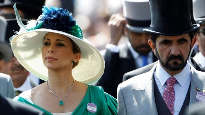 Princess Haya Bint Al-Hussein and Dubai ruler Sheikh Mohammed Al-Maktoum (file photo)