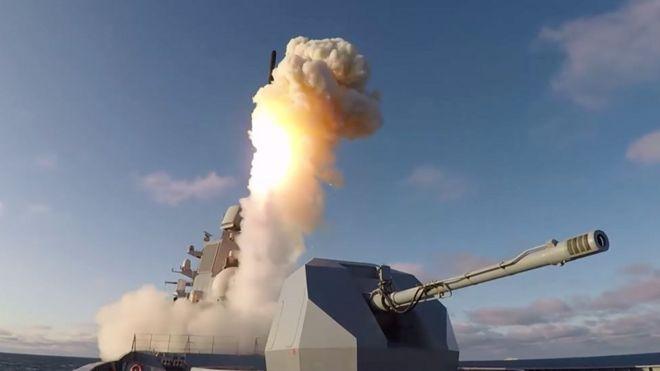 Chiến hạm lớp Kalibr mang hỏa tiễn sang Trung Đông