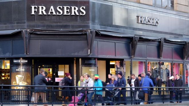 8fa1a487d551d Edinburgh House of Fraser to close early - BBC News