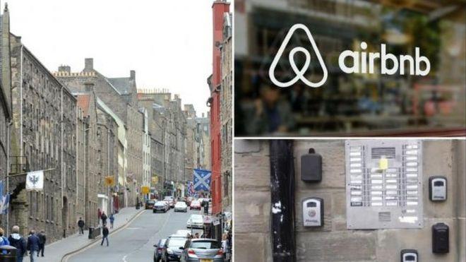 Edinburgh Airbnb bookings up by 70% - BBC News