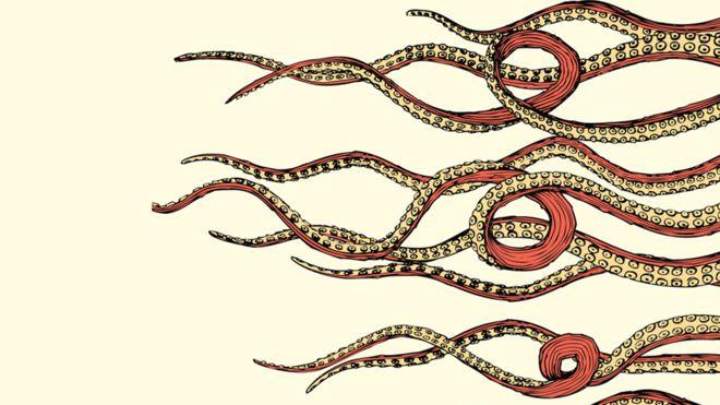 Ilustração tentáculos