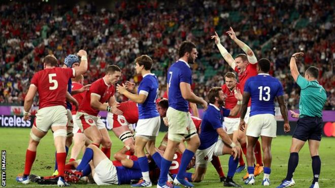 ラグビーW杯】 ウェールズ、1点差の逆転勝利でベスト4 フランス