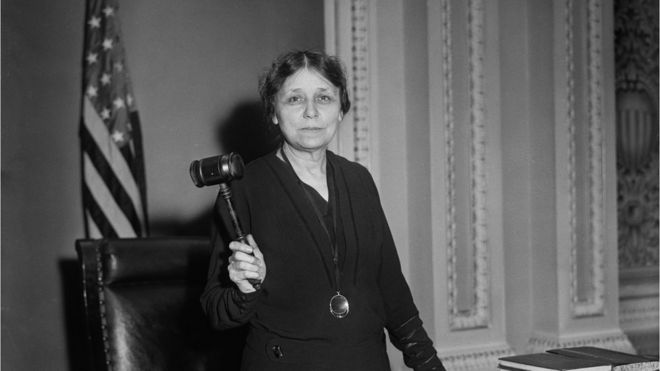 Tennessee Senator Hattie Caraway, First Woman Elected to Serve a full Term as a U.S. Senator, Portrait with Gavel,