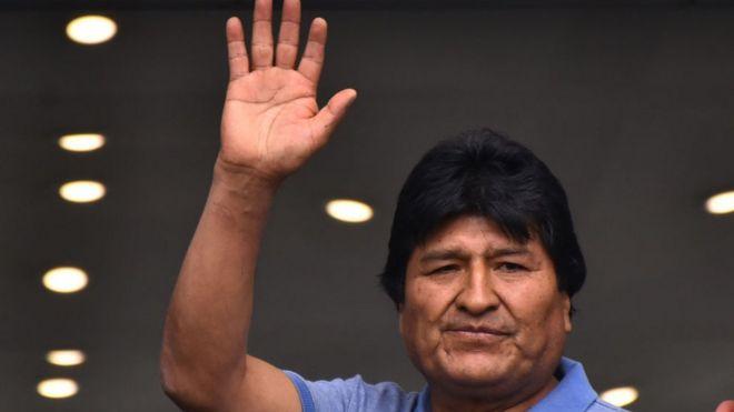 Evo Morales en México.