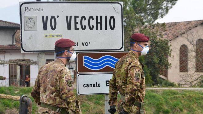 当意大利Vò村确认第一例新冠病例后,测试就推广到整个村庄。