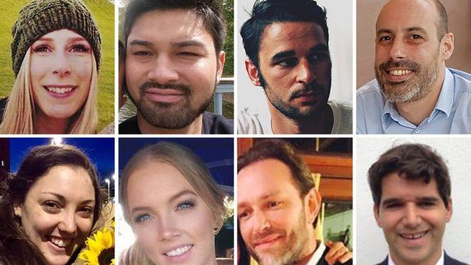 Chrissy Archibald, James McMullan, Alexandre Pigeard, Sebastien Belanger, Ignacio Echeverria, Xavier Thomas, Sara Zelenak, Kirsty Boden (clockwise from top left)