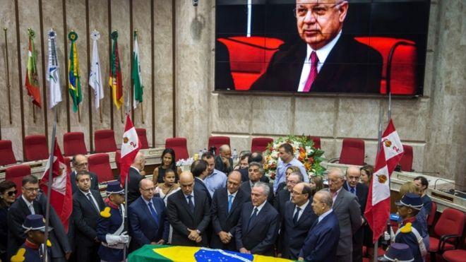 Похороны судьи Заваски в Порту-Алегри, Бразилия, 21 января 2017 года
