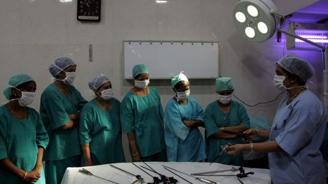 File photo of Ayurvedic doctors being trained by surgeons at Mumbai hospital in 2008