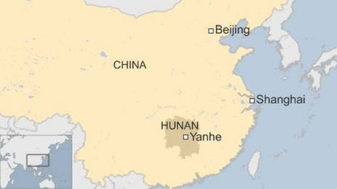 Hunan Province China Map.China Arrests After Hundreds Attack Police In Hunan Province Bbc News