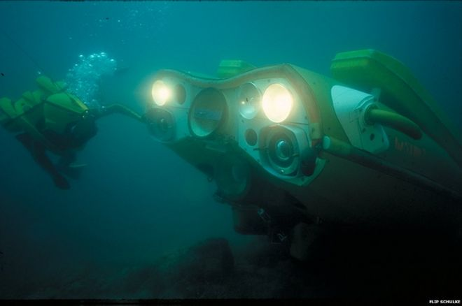The one-man mini-subs of Jacques Yves Cousteau