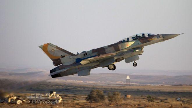 عکس آرشیوی از یک جنگنده اف ۱۶ ارتش اسرائیل