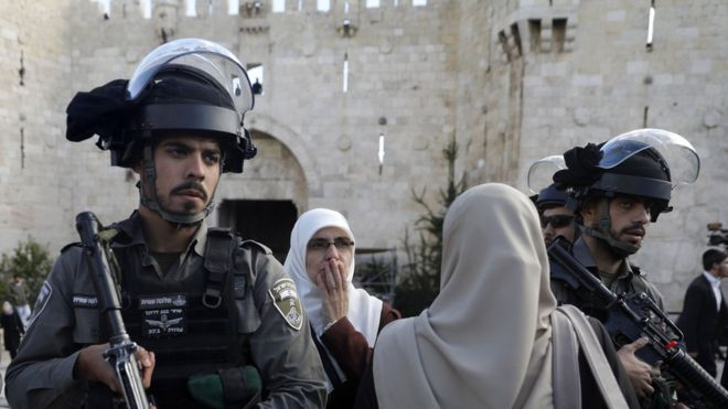 Soldados israelenses em Jerusalém
