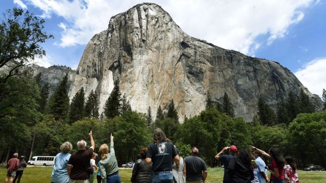 One Killed After Rockslide In Yosemite National Park Bbc News
