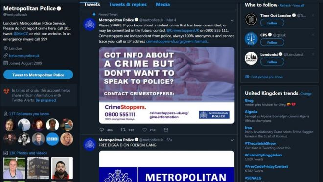 Met Police hacked with bizarre tweets and emails posted