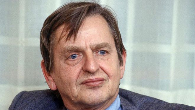 Olof Palme photographed in 1984