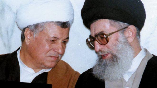 علی خامنهای و اکبر هاشمی رفسنجانی