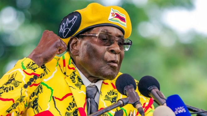 Robert Mugabe pictured in 2017