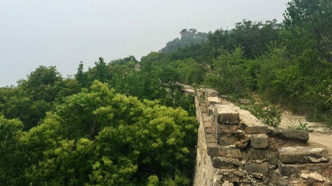 China clamps down on climbing 'wild Great Wall' _114691617_img-0956
